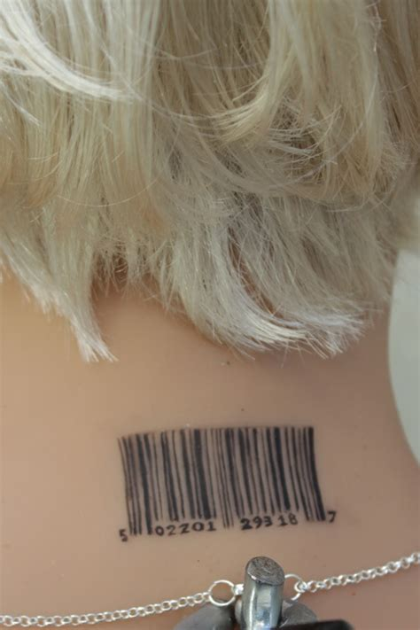 barcode tattoo story barcode tattoo on girl nape creativefan
