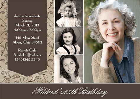 birthday card templates for adults photo birthday invitations custom design