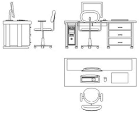 scrivania ufficio dwg scrivanie 2d 2
