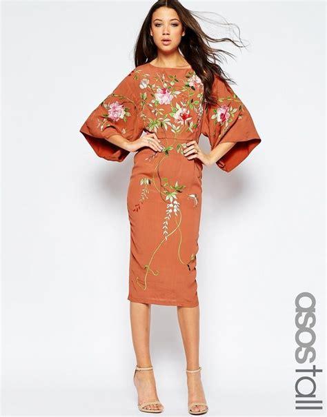 My Style Midi Dress asos kimono midi dress with embroidery my style