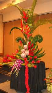 Tall Entryway Table Large Tropical Demonstration Arrangement By Phil Rulloda