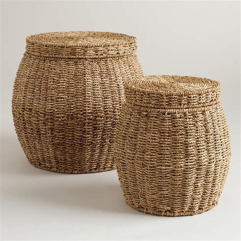 Cheap Home Decor Online Stores by Round Janna Baskets With Lid World Market