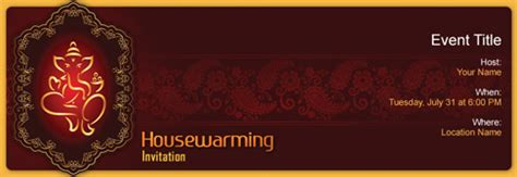 housewarming invitation india free house warming invitation with india s 1 online tool