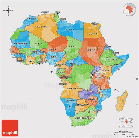 africa map 3d political 3d map of africa cropped outside