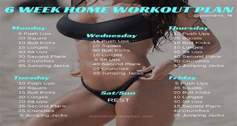 6 Week Home Workout Plan | 6 week no gym home workout plan