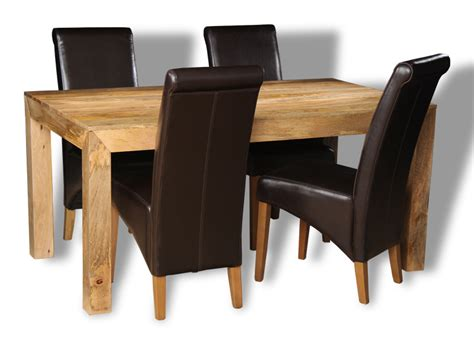 Mango Dining Table And Chairs Mango Light 160cm Dining Table 4 Rollback Chairs Trade Furniture Company
