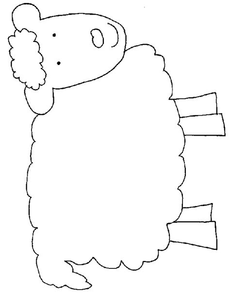 printable sheep template sheep templates printable clipart best
