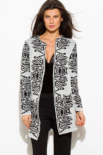 Mirror Vest Cardi white perforated faux leather open cardigan duster coat 91431 leather cardigans for