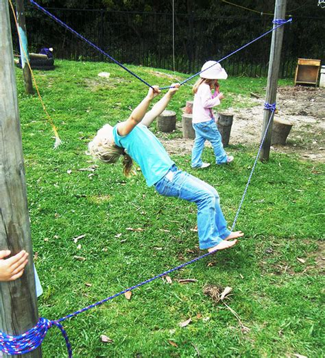 backyard tightrope 19 diy backyard play spaces kids will love