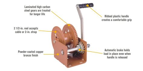 boat trailer winch auto lock dutton lainson single speed hand winch with automatic
