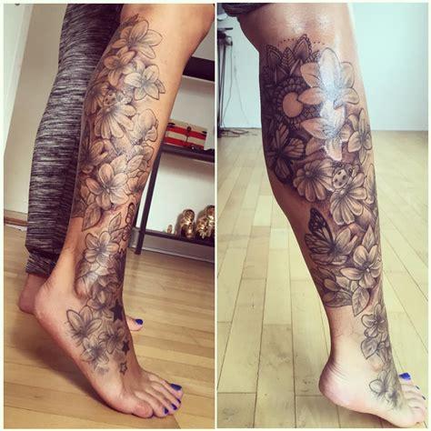 half leg sleeve tattoo half leg sleeve www pixshark images