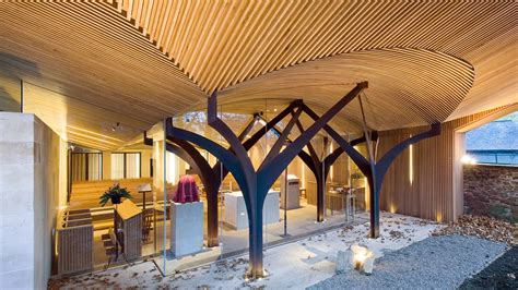 Post And Beam House Plans Floor Plans tree shaped chapel of st albert the great in scotland by