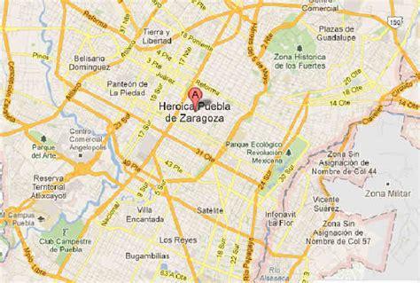 mapa de puebla mexico puebla capital mapa