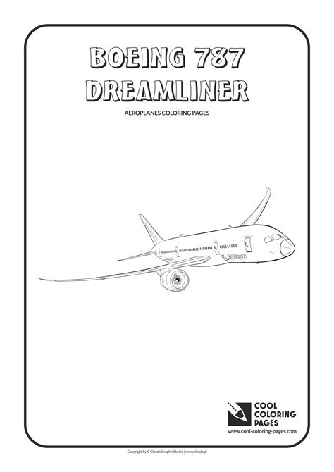 787 Coloring Page by Cool Coloring Pages Boeing 787 Dreamliner Coloring Page