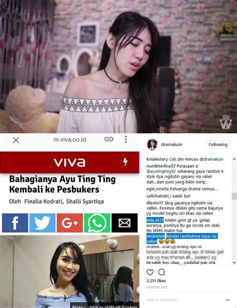 Model Rambut Via Vallen by Ayu Ting Ting Diledek Plagiat Via Vallen Aura Disindir