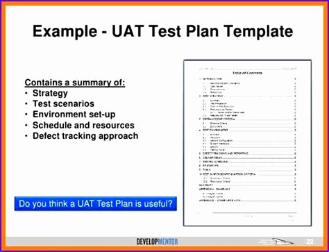 10 Test Plan Excel Template Exceltemplates Exceltemplates User Acceptance Testing Template