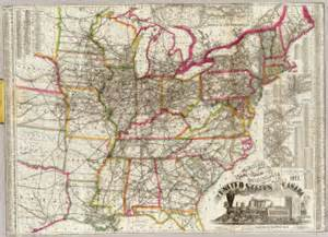 us map zoomable watson s new rail road and distance map of the united