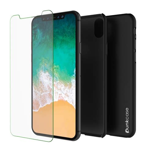 Casing I Phone X Ultra Thin Black iphone x punkcase solid series ultra thin cover shockproof punkcase ca