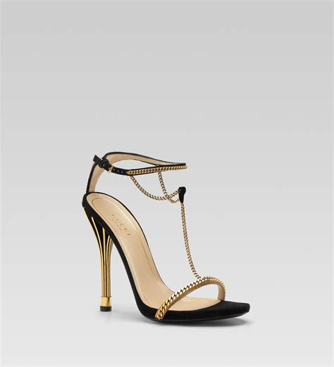 high heels black sandals gucci ophelie high heel tstrap sandal in black lyst