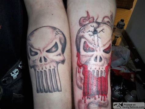 punisher tattoos punisher tattoos geeky tattoos