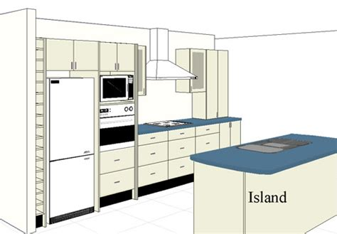 one wall kitchen layout with island decorating ideas