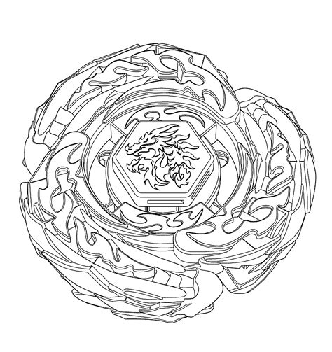 Drago Beyblade Coloring Pages For Kids Printable Free Beyblade Coloring Pages