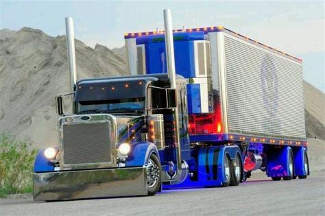 peterbilt show trucks peterbilt show trucks rides pinterest rigs blue and