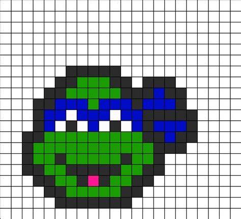 perler bead turtle pattern tmnt leonardo perler bead pattern bead sprites
