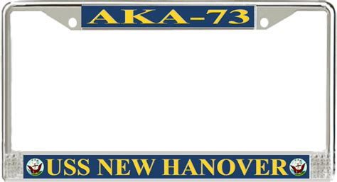 aka license plate frame uss new hanover aka 73 license plate frame