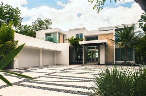 million newly built modern waterfront mansion  miami