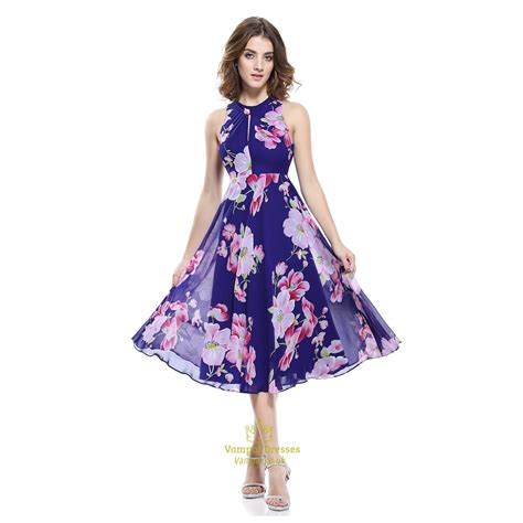 Sleeveless A Line Chiffon Dress chiffon floral jacquard sleeveless a line skater dresses
