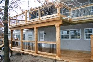 two story deck deck building company in michigan todd s services