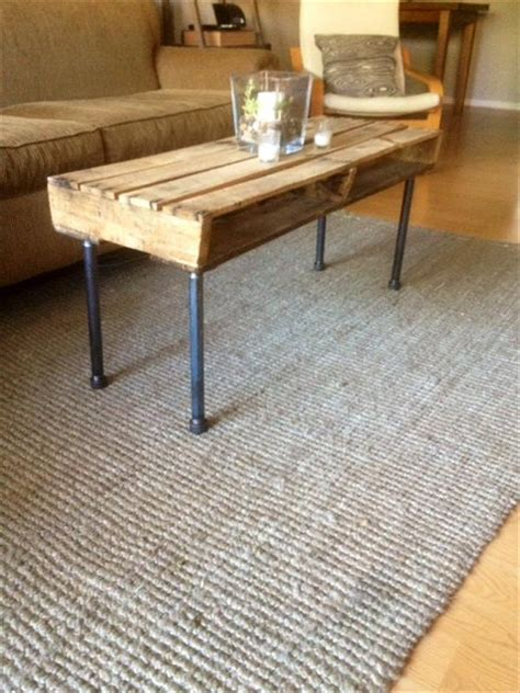 diy metal iron pipe and pallet coffee table pallet