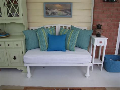 baby crib bench the old white cottage crib turned bench