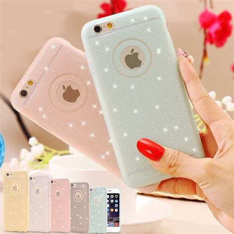 Shining Iphone 6 6s 6 Plus Silicone Tpu Clear Soft Thin Cover glitter powder soft silicone tpu for iphone 6 6s