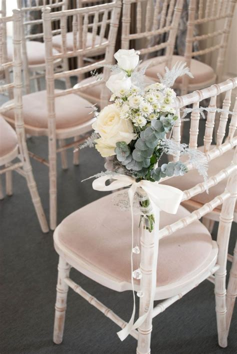 Wedding Ceremony Chairs by Winter Wedding Flowers At Eaves Laurel Weddings