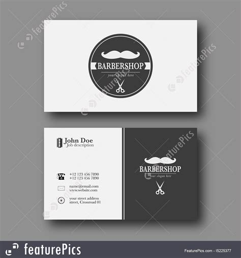 shop business cards templates barber shop business card template stock illustration