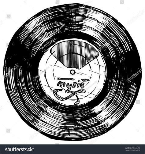 Ink Free News Records Sketch Vinyl Record Ink Stock Illustration 721340452