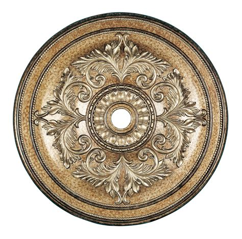 Gold Ceiling Medallion by Livex Lighting Ceiling Medallion Painted Vintage Gold