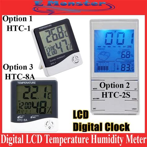 Promo Jam Termometer 2 In 1 Lcd Digital Pengukur Temperatur Transparan digital lcd humidity meter temperatu end 11 8 2018 8 15 am