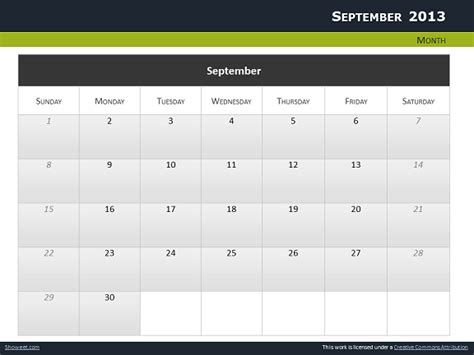 Calendar 2013 For Powerpoint Full Pack Powerpoint Calendars