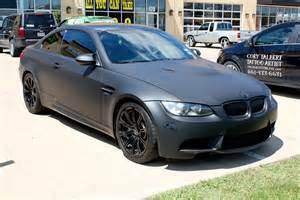 matte black bmw car wrap dallas zilla wraps