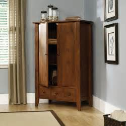 sauder shoal creek armoire in oak walmart