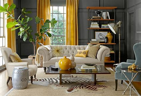 Colors That Go With Gray Walls the way to brighten up a room with yellow curtains