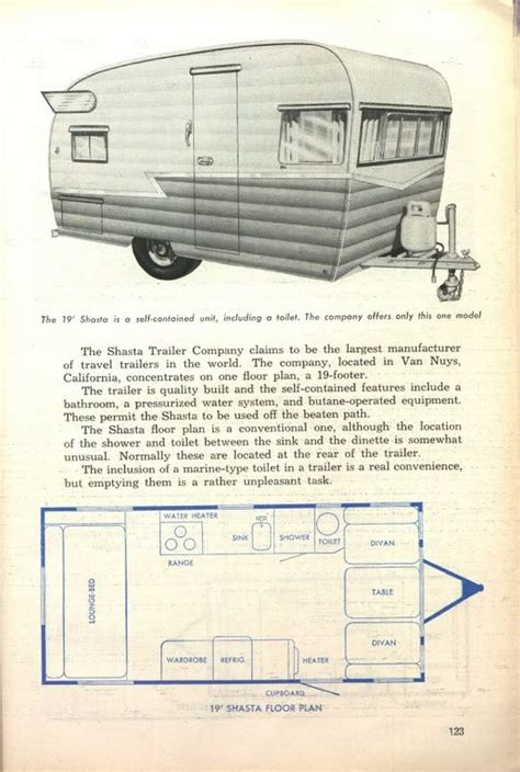shasta rv floor plans 17 best images about cer travel trailers on pinterest