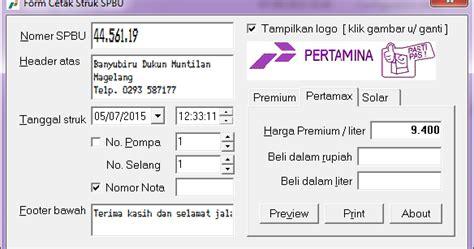 Printer Nota Spbu Sambilan Praktisi It Struk Spbu
