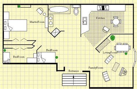 home plan drawing modern house