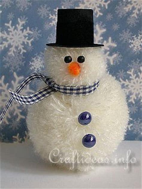 fuzzy yarn snowman allfreechristmascrafts com