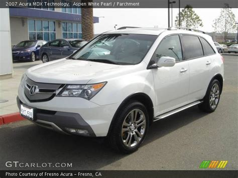 acura mdx 200 2007 acura mdx white 200 interior and exterior images