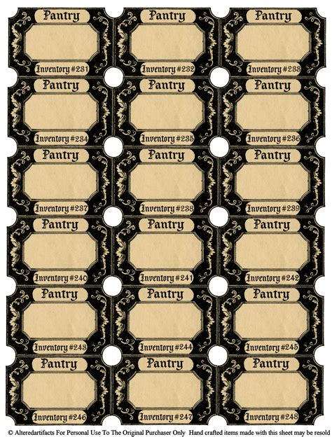 Pantry Labels Template by Altered Artifacts Free Printable Pantry Labels Bottle